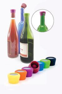 Viinipullon silikonistopperi 2 kpl