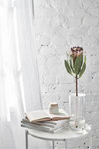 Kukalle-maljakko, kirkas/valkoinen