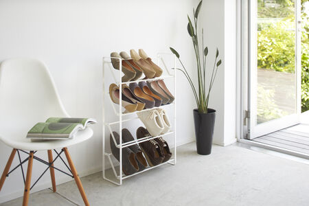 Frame kenkäteline 4 tasoa valk.